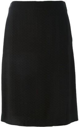 Jean Louis Scherrer Pre-Owned Chevron Pattern Skirt