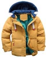 WEONEDREAM Big Boys Winter Warm Cotton Coats Children Down Jackets Outerwear Hooded