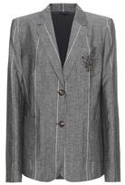 Brunello Cucinelli Embellished Striped Jacket