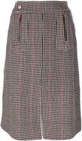 See by Chloe herringbone pencil skirt - women - Acrylic/Polyamide/Polyester/Wool - 34