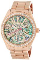 Betsey Johnson Women&s Rose Gold Metal & Alloy Bracelet Watch