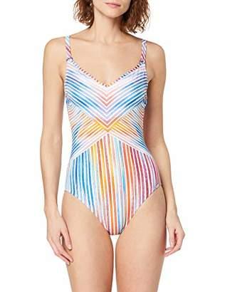 Sunflair Women's Happy Line Swimsuit,38C (Size: 42C)