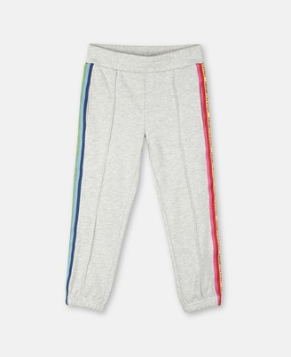 Stella McCartney sport joggers with rainbow logo tape