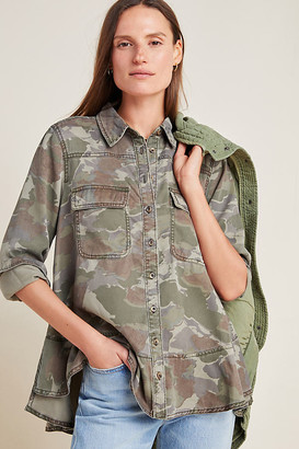 Anthropologie Montana Camo Buttondown By in Assorted Size 0