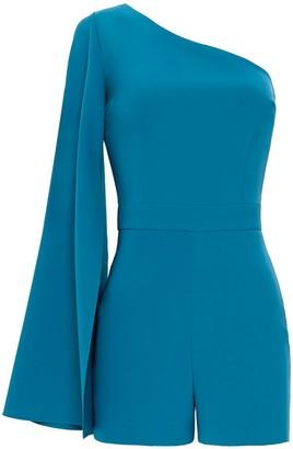Nomi Fame Amon Turquoise One Sleeve Asymmetric Neckline Playsuit
