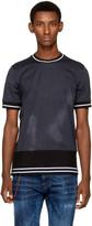 Diesel Black Gold Blue Contrast Stripe T-Shirt