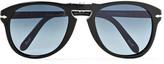 Persol Steve Mcqueen Folding D-frame Acetate Polarised Sunglasses, Size 54 - Black