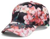 Collection XIIX Women's Floral Print Baseball Cap - Black