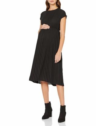 New Look Maternity Women's Plain SS Pleated MIDI Dress:1:S8