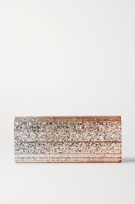 Jimmy Choo Sweetie Glittered Acrylic Clutch - Silver