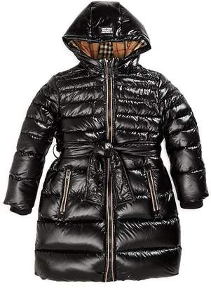 Burberry Girls' Sharona Down-Filled Hooded Puffer Jacket - Little Kid, Big Kid