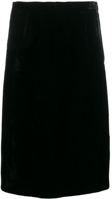 Emanuel Ungaro Pre-Owned 1980's Velvet Effect Straight Skirt
