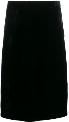 Emanuel Ungaro Pre Owned 1980's Velvet Effect Straight Skirt