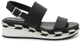 Women's Poliana Espadrille Wedges Sandals Black Size 5 Faux leather or fabric upper From Sole Society