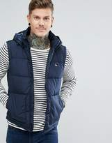 Jack Wills Staunton Core Down Vest With Hood In Navy