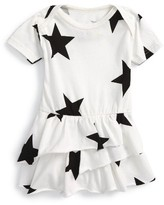 Nununu Infant Girl's Star All In One Skirted Romper