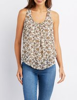 Charlotte Russe Floral Racerback Tank Top