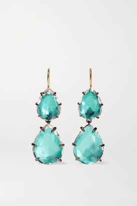 Larkspur & Hawk Caterina Large Double Rhodium-dipped Quartz Earrings - Silver