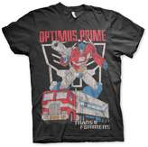 Transformers Officially Licensed Optimus Prime Distressed T-Shirt