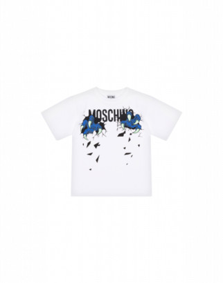 Moschino Monster Hands Maxi T-shirt Unisex White Size 4a It - (4y Us)