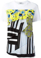 MSGM multi-textile T-shirt