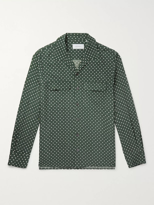 Equipment The Original Slim-fit Camp-collar Washed-silk Shirt - Green