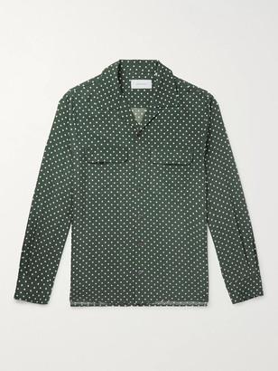 Equipment The Original Slim-Fit Camp-Collar Washed-Silk Shirt - Men - Green