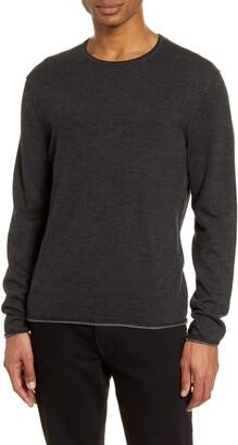Rag & Bone Trent Slim Fit Tipped Linen & Wool Blend Sweater