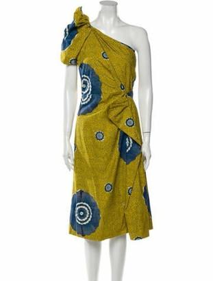 Ulla Johnson Printed Midi Length Dress w/ Tags Green