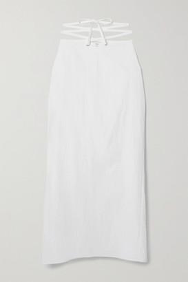 CHRISTOPHER ESBER Lace-up Poplin Maxi Skirt - White