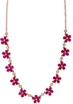 Effy Rosa by Ruby (13 ct. t.w.) and Diamond (1/2 ct. t.w.) Collar Necklace in 14k Rose Gold