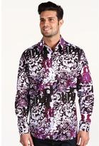 Robert Graham Steve Carl Sport Shirt (Burgandy) - Apparel