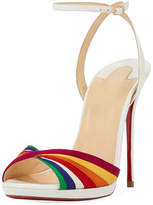 Christian Louboutin Naseeba Strappy Rainbow Red Sole Sandal