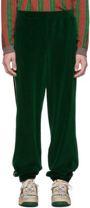 Gucci Green Velvet Lounge Pants