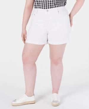 Seven7 Jeans Trendy Plus Size High-Rise Denim Shorts