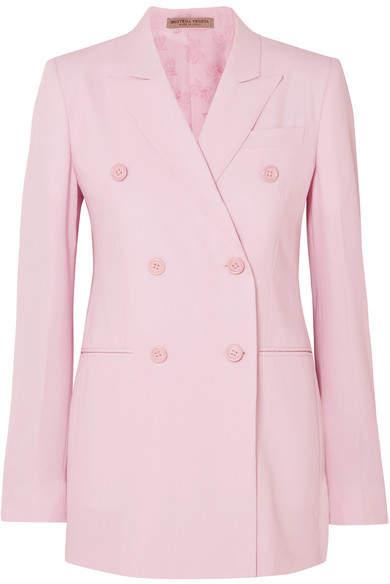 Bottega Veneta Grain De Poudre Wool Blazer - Pastel pink