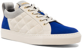 Balmain Quilted Suede Sneakers