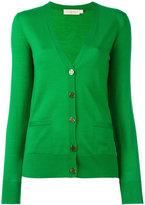 Tory Burch button up cardigan - women - Merino - L