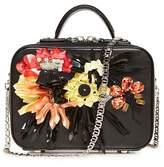 La Perla Bags Colourful Flowers Leather Box Clutch