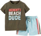 Carter's 2 Piece Swim Set (Baby) - Olive-24 Months