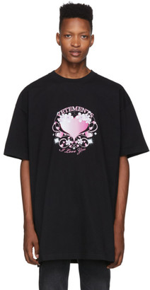 Vetements Black Valentines Logo T-Shirt
