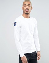 Alpha Industries Long Sleeve Top Nasa Pocket In White