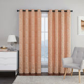 Asstd National Brand Utopia Jacquard Grommet-Top 2-Pack Curtain Panels