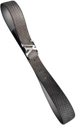 Louis Vuitton Initiales Black Suede Belts