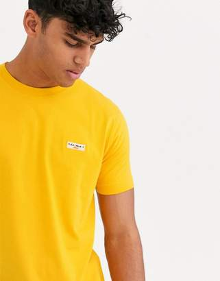 Nudie Jeans Daniel logo t-shirt in yellow