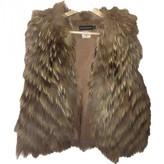 Antik Batik Beige Fox Jacket for Women