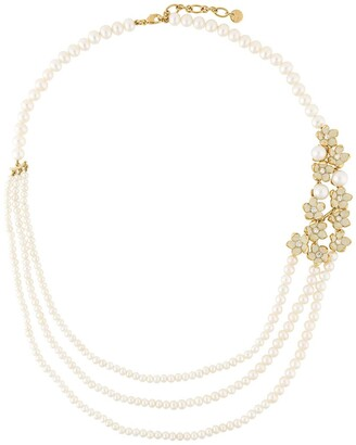 Shaun Leane Cherry Blossom pearl and diamond necklace