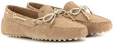 Tod's Heaven Laccetto Suede Loafers