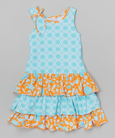 Flap Happy Aquatic Rings Tessa Triple Ruffle Dress - Infant Toddler & Girls