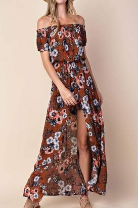 Kori America Floral Front-Slip Romper